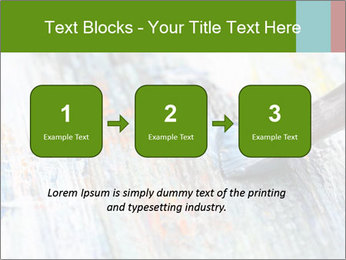 Closeup of brush PowerPoint Template - Slide 71