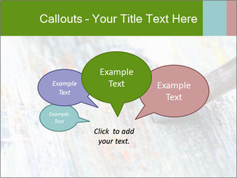 Closeup of brush PowerPoint Template - Slide 73