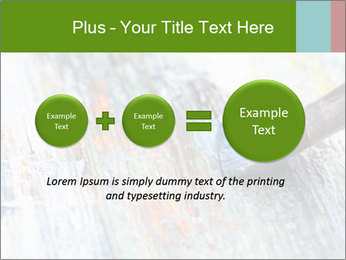 Closeup of brush PowerPoint Template - Slide 75