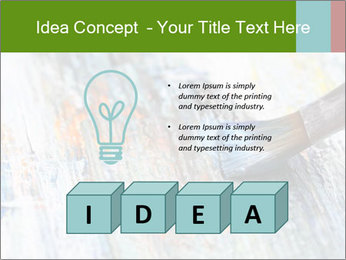 Closeup of brush PowerPoint Template - Slide 80