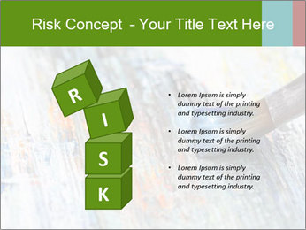 Closeup of brush PowerPoint Template - Slide 81