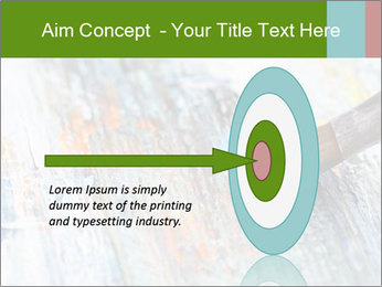 Closeup of brush PowerPoint Template - Slide 83