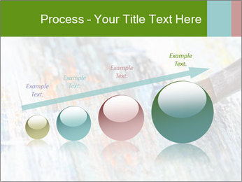 Closeup of brush PowerPoint Template - Slide 87