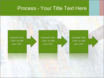 Closeup of brush PowerPoint Template - Slide 88