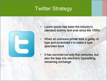 Closeup of brush PowerPoint Template - Slide 9