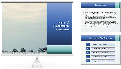 Winter minimalist landscape PowerPoint Template