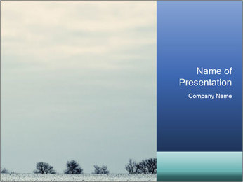 Winter minimalist landscape PowerPoint Template