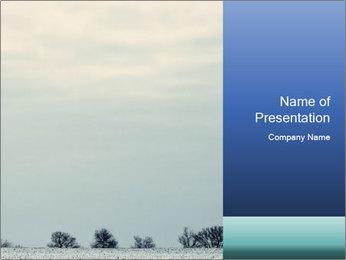 Winter minimalist landscape PowerPoint Template - Slide 1