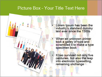 A large group of pixel people icon design PowerPoint Template - Slide 17