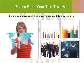 A large group of pixel people icon design PowerPoint Template - Slide 19