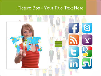 A large group of pixel people icon design PowerPoint Template - Slide 21