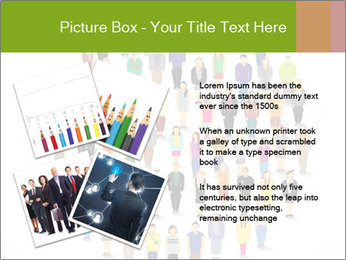 A large group of pixel people icon design PowerPoint Template - Slide 23