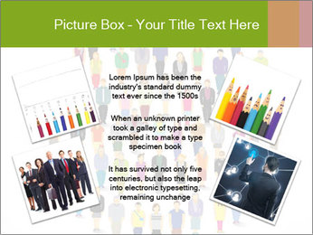 A large group of pixel people icon design PowerPoint Template - Slide 24