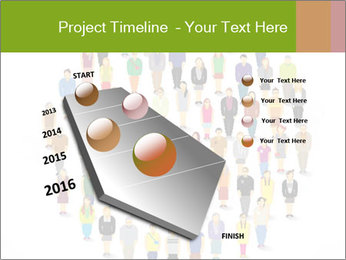 A large group of pixel people icon design PowerPoint Template - Slide 26