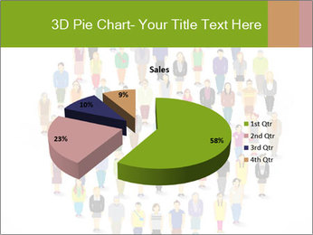 A large group of pixel people icon design PowerPoint Template - Slide 35
