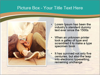Beautiful young couple tenderly kissing PowerPoint Template - Slide 13