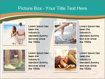 Beautiful young couple tenderly kissing PowerPoint Template - Slide 14