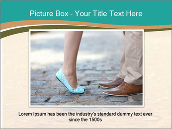 Beautiful young couple tenderly kissing PowerPoint Template - Slide 15