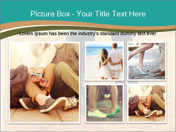 Beautiful young couple tenderly kissing PowerPoint Template - Slide 19