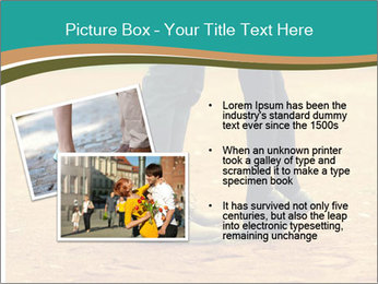 Beautiful young couple tenderly kissing PowerPoint Template - Slide 20