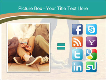 Beautiful young couple tenderly kissing PowerPoint Template - Slide 21