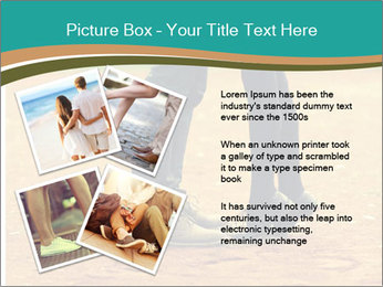 Beautiful young couple tenderly kissing PowerPoint Template - Slide 23