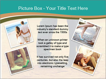 Beautiful young couple tenderly kissing PowerPoint Template - Slide 24