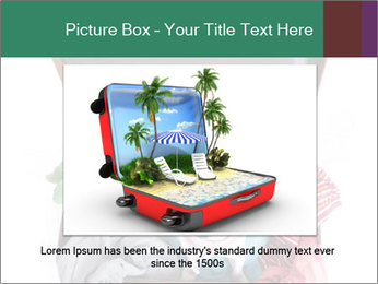 Cute dog sits in a suitcase for traveling with brightly PowerPoint Templates - Slide 15
