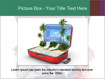 Cute dog sits in a suitcase for traveling with brightly PowerPoint Templates - Slide 16