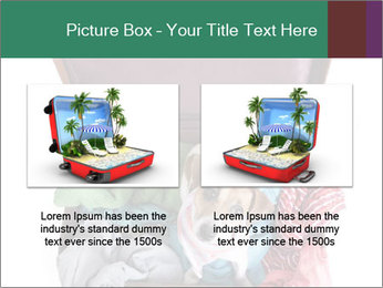 Cute dog sits in a suitcase for traveling with brightly PowerPoint Templates - Slide 18