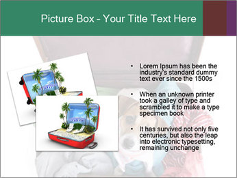 Cute dog sits in a suitcase for traveling with brightly PowerPoint Templates - Slide 20