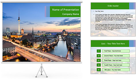 Berlin skyline PowerPoint Template