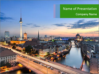 Berlin skyline PowerPoint Template - Slide 1