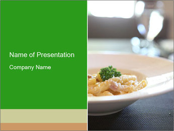 Spaghetti Carbonara PowerPoint Templates - Slide 1
