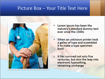 Caring nurse holding kind elderly lady's hands PowerPoint Templates - Slide 13
