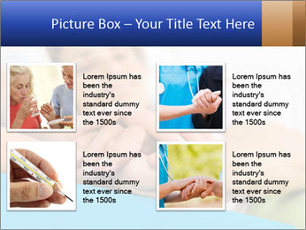 Caring nurse holding kind elderly lady's hands PowerPoint Templates - Slide 14
