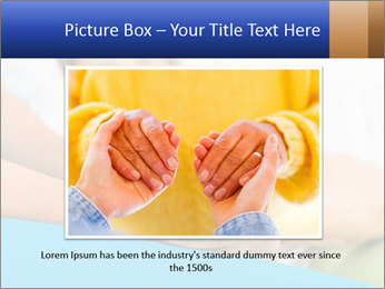 Caring nurse holding kind elderly lady's hands PowerPoint Templates - Slide 16