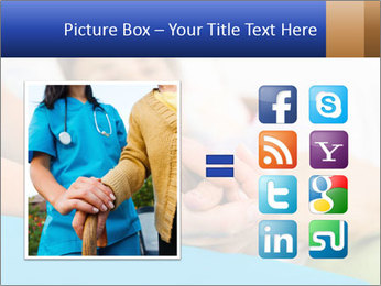 Caring nurse holding kind elderly lady's hands PowerPoint Templates - Slide 21