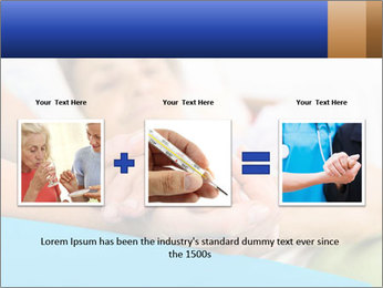 Caring nurse holding kind elderly lady's hands PowerPoint Templates - Slide 22