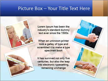 Caring nurse holding kind elderly lady's hands PowerPoint Templates - Slide 24