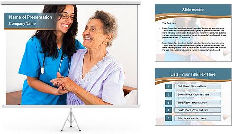 Happy nurses keeping good mood PowerPoint Template