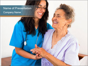 Happy nurses keeping good mood PowerPoint Templates - Slide 1