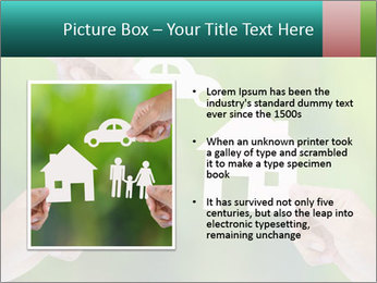 Hand holding a paper home PowerPoint Template - Slide 13
