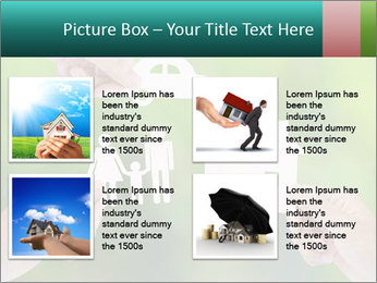 Hand holding a paper home PowerPoint Template - Slide 14