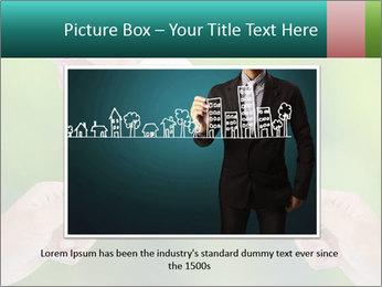 Hand holding a paper home PowerPoint Template - Slide 15