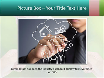 Hand holding a paper home PowerPoint Template - Slide 16