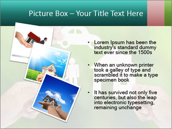 Hand holding a paper home PowerPoint Template - Slide 17