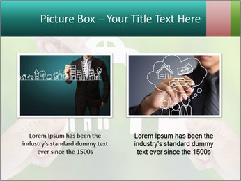 Hand holding a paper home PowerPoint Template - Slide 18