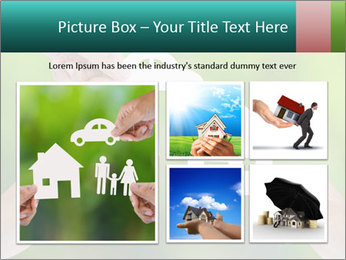 Hand holding a paper home PowerPoint Template - Slide 19