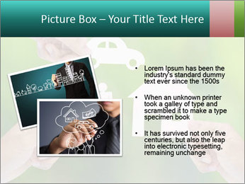 Hand holding a paper home PowerPoint Template - Slide 20